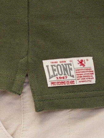 LEONE Polo T-shirt ciemna zieleń M [LSM1725]