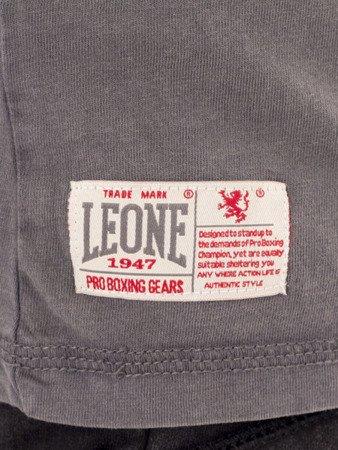 """LEONE - TSHIRT """"OLD"""" [LSM1512_stalowy]"""