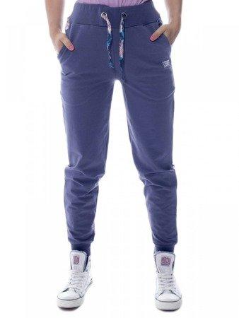 LEONE spodnie dresowe damskie fioletowe XS [LW1806]
