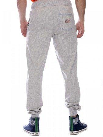 LEONE spodnie dresowe szary melanż XL [LSM1660]