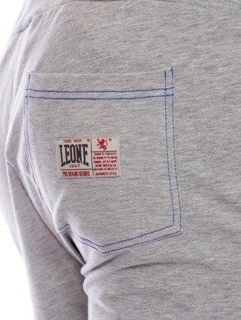 LEONE spodnie dresowe szary melanż XXL [LSM1660]