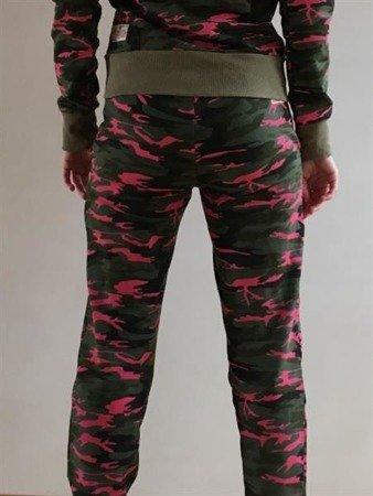 Leone - Spodnie Camo różowy