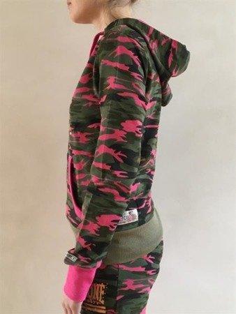 Leone - bluza z kapturem Camo różowy